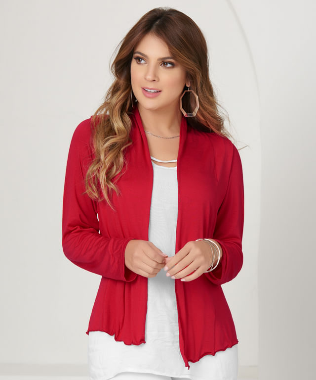 Cardigan-Basic-Rojo