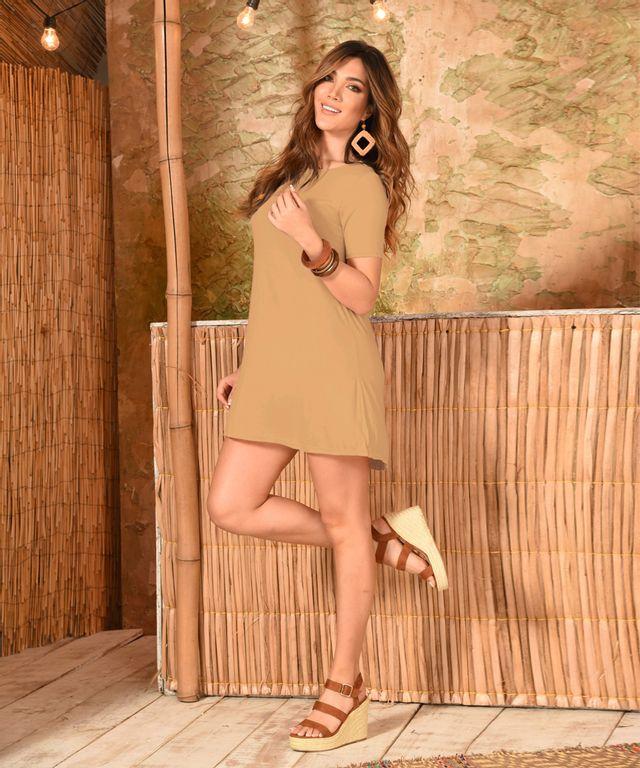 Vestido-Recife-Camel