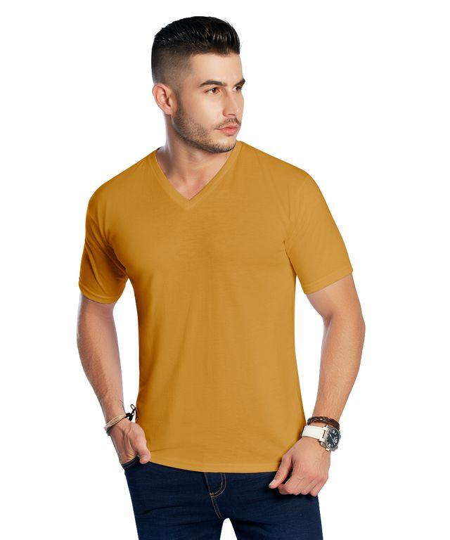 Camiseta-Basic-V-Mostaza