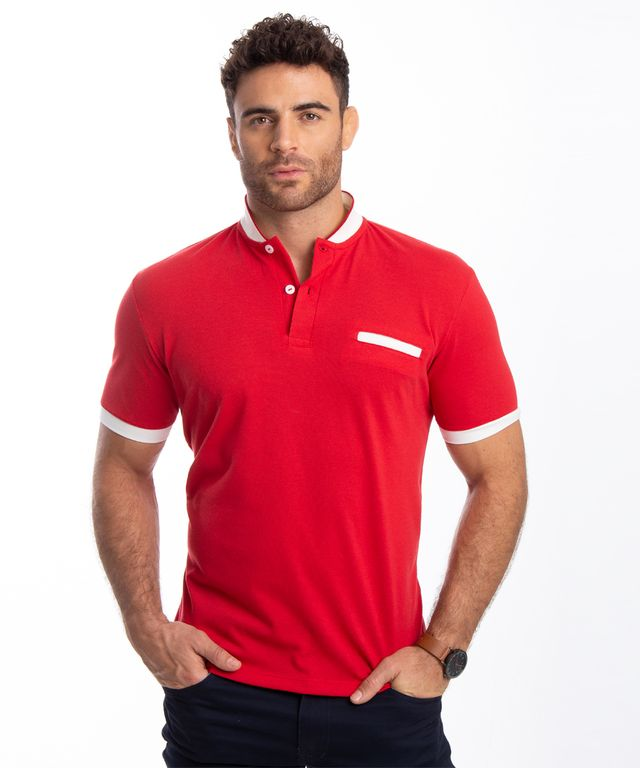 Camiseta-Polo-Coro-Rojo