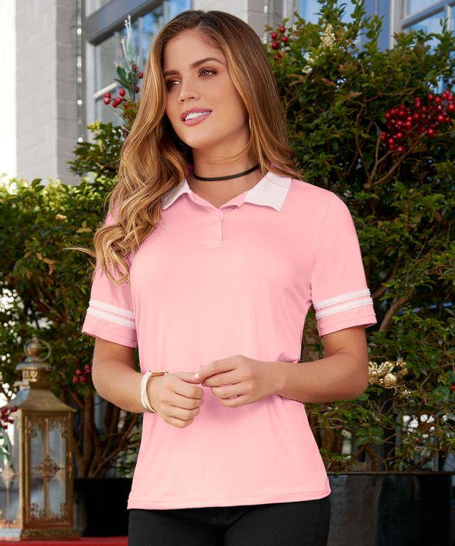 Camiseta-Polo-Bianca-Rosado