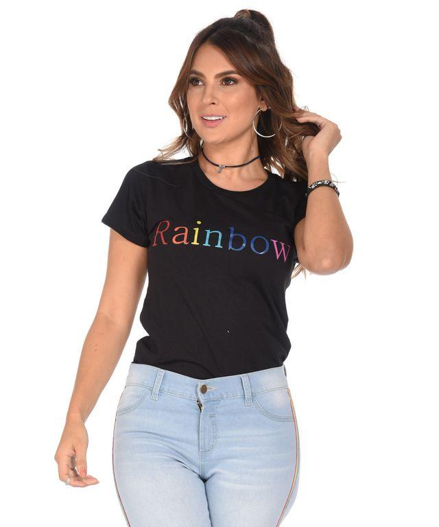Camiseta-Rainbow-Negro