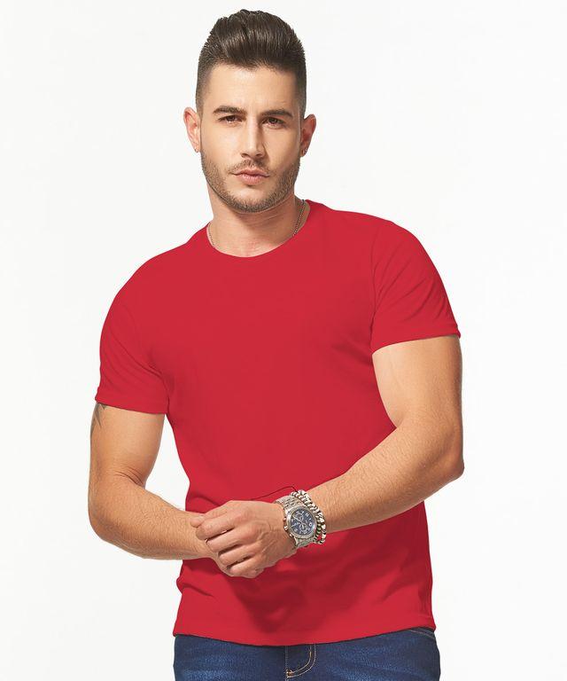 Camiseta-Basic-Redondo-Rojo