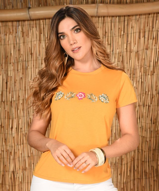 Camiseta-Warnes-Mostaza