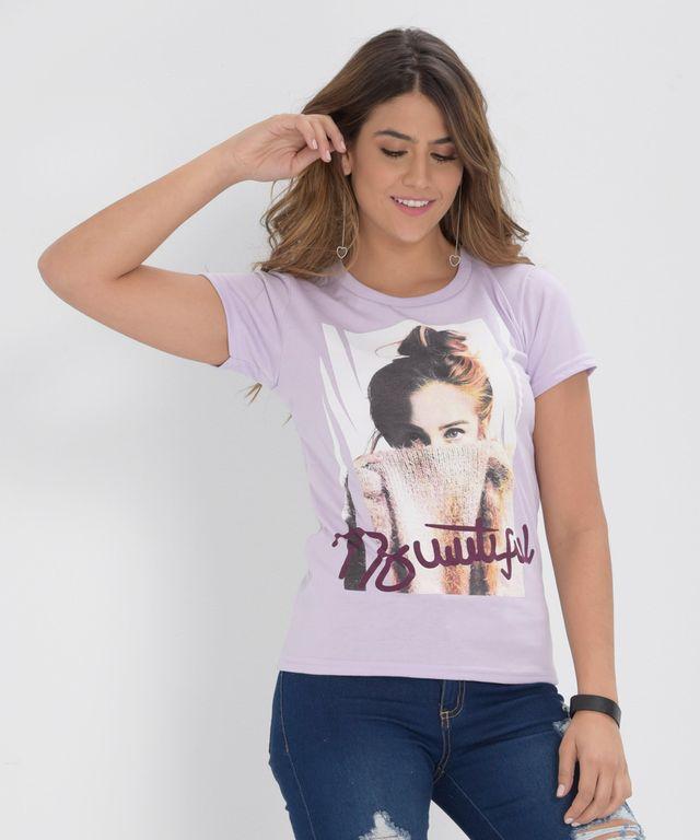 Camiseta-Beautiful-Lila