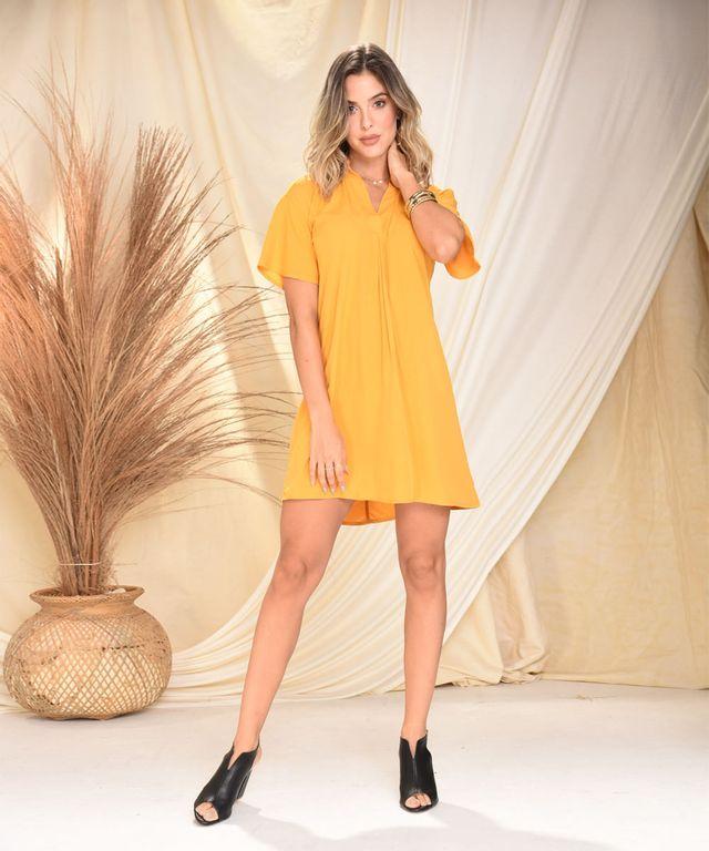 Vestido-Celine-Mostaza