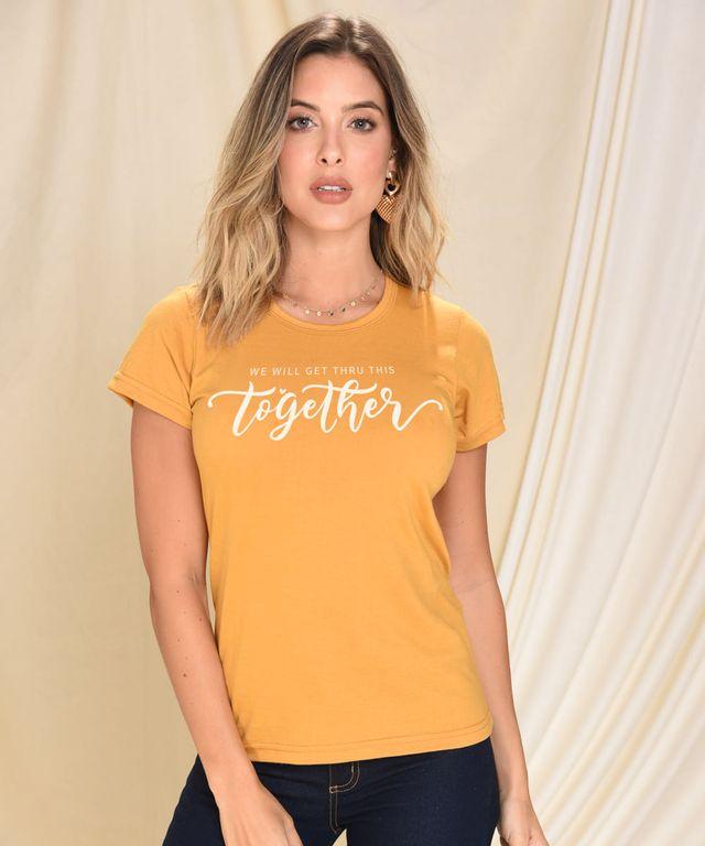 Camiseta-Stay-Home-Mostaza