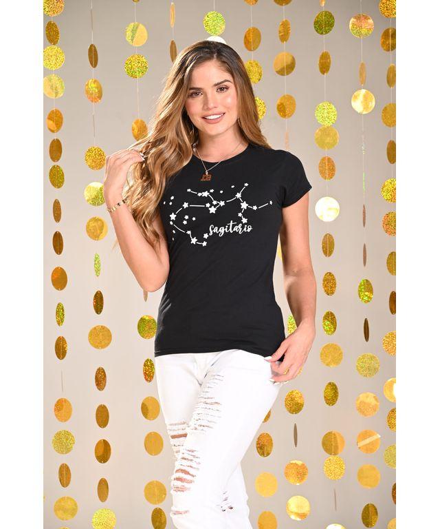 Camiseta-Sagitario-Negro