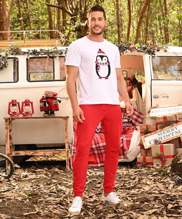 Pijama-Pinguino-Man-Blanco-Rojo