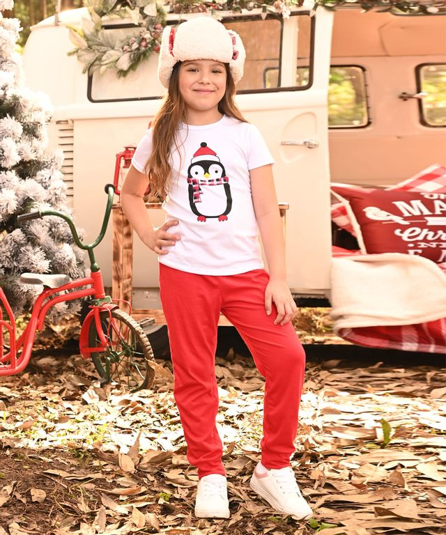 Pijama-Pinguino-Girl-Blanco-Rojo