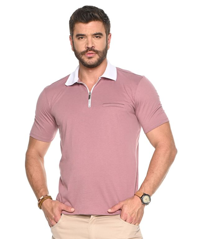 Camiseta-Polo-Pierre-Rosa