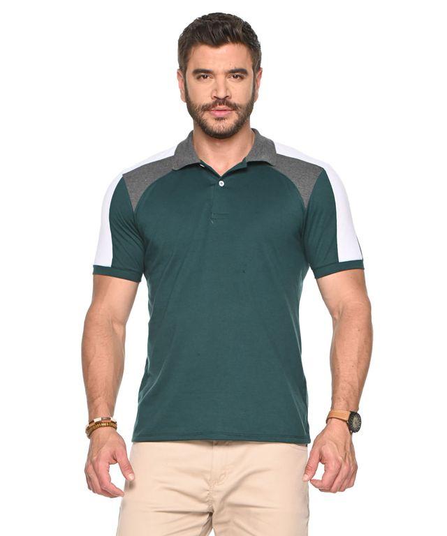 Camiseta-Polo-Balmain-Verde