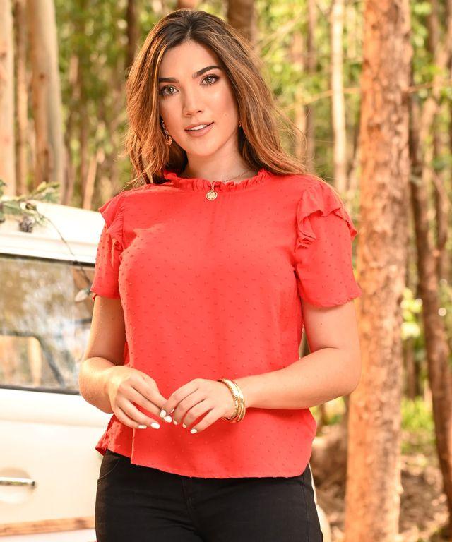 Blusa-Galliano-Rojo
