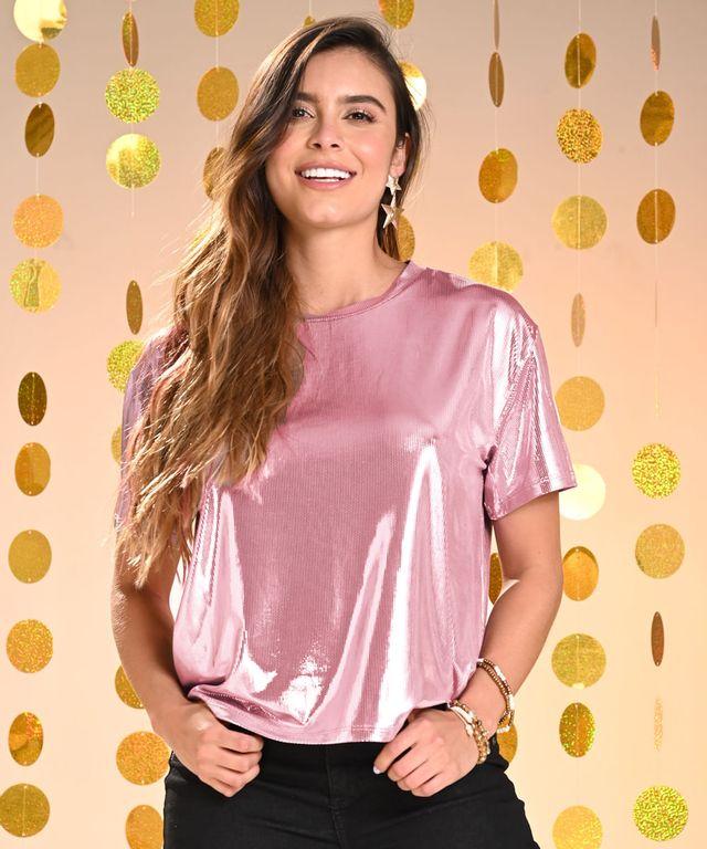 Camiseta-Shine-Rosado