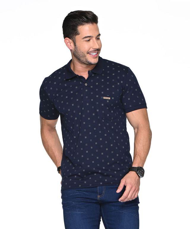 Camiseta-Polo-Maradona-Azul