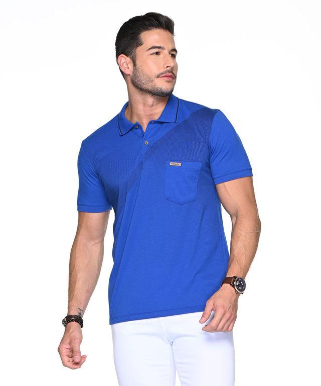 Camiseta-Polo-Nedved-Azul