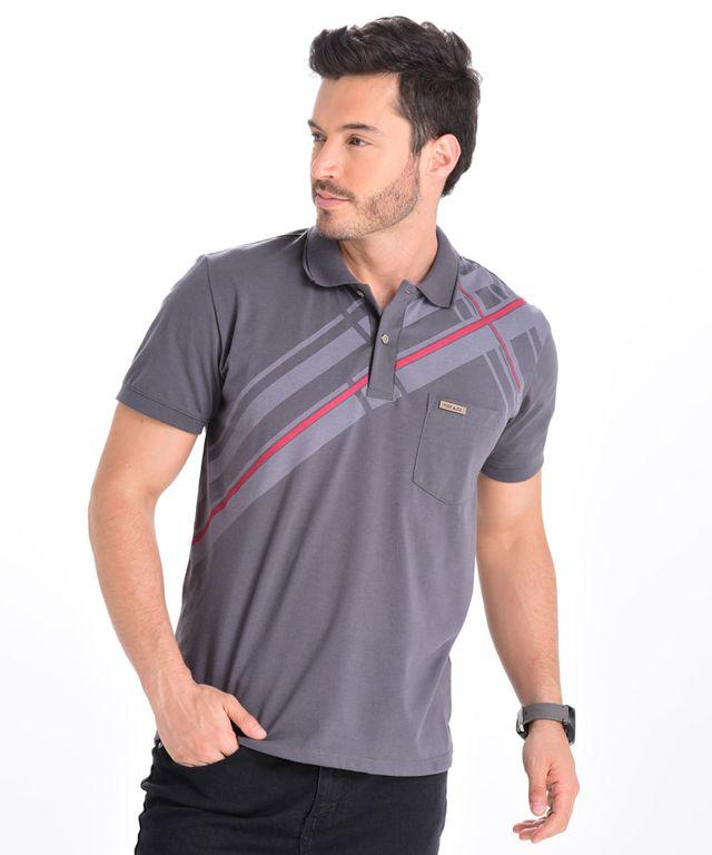 Camiseta-Polo-Mulsanne-Gris