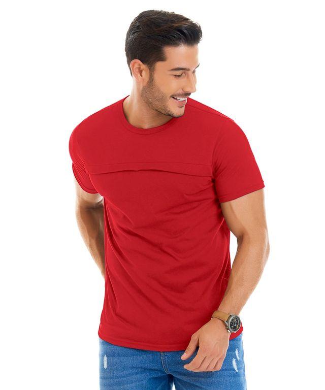 Hombre-con-Camiseta-color-Rojo-y-Jean